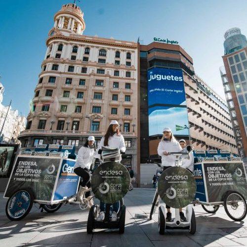 publicidad, bicicleta ,madrid